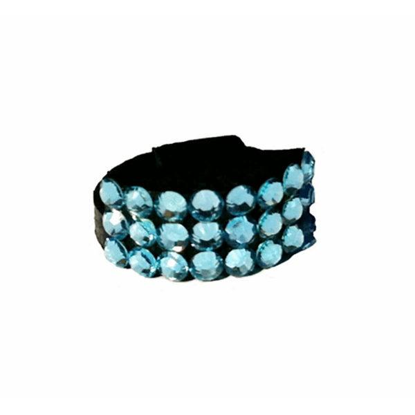 Genuine Swarovski Crystal Adorned Mute - Aquamarine