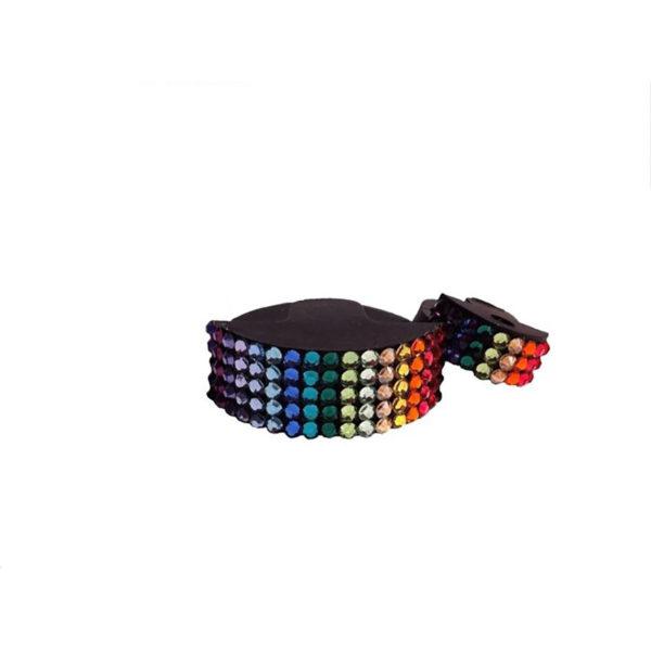 Genuine Swarovski Crystal Adorned Mute - Rainbow