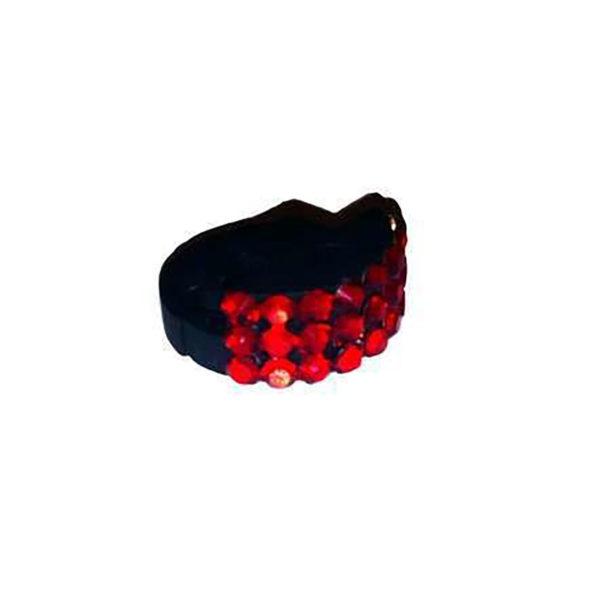 Genuine Swarovski Crystal Adorned Mute - Ruby