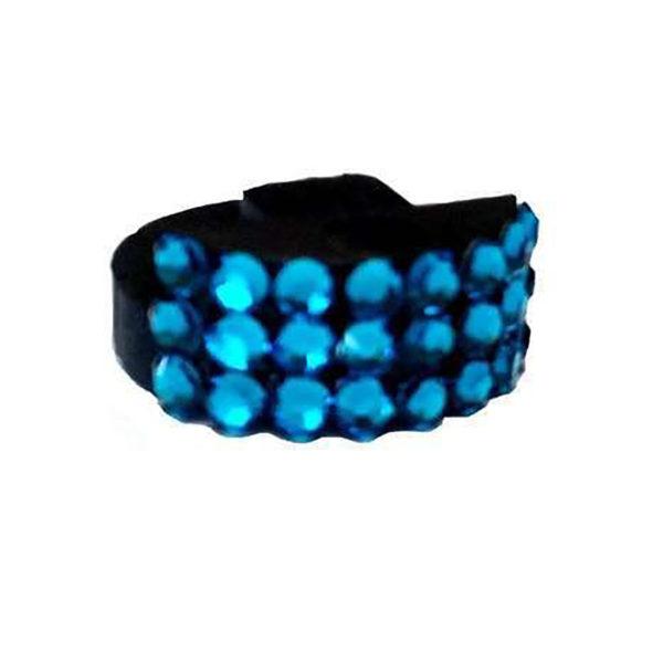 Genuine Swarovski Crystal Adorned Mute - Sapphire